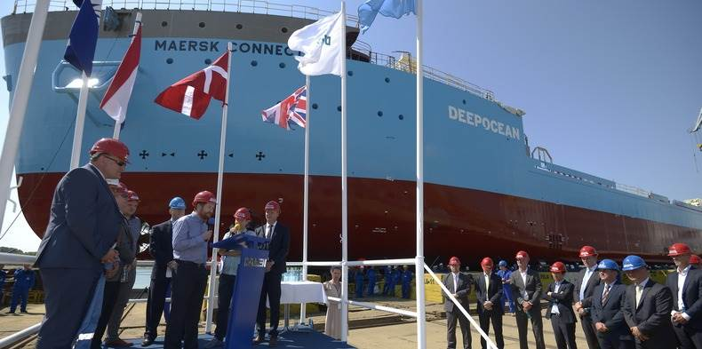 Thursday 23 July saw senior representatives of Maersk Supply Service, DeepOcean UK and the Damen Shipyards Group gather at Damen Shipyards Galati, Romania to witness the launching of subsea support vessel Maersk Connector.